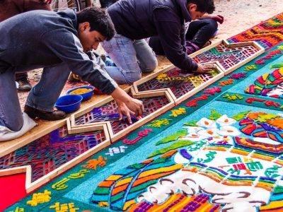 alfombras guatemala